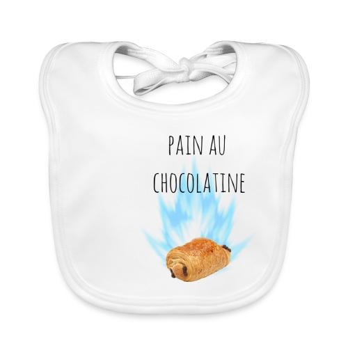 pain au chocolatine - Bavoir bio Bébé