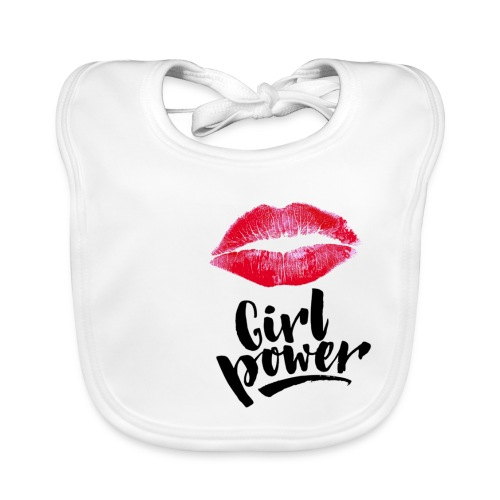 Girl Power - Bavoir bio Bébé