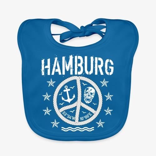 105 Hamburg Peace Anker Seil Koordinaten - Baby Bio-Lätzchen