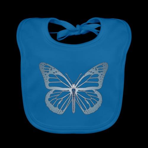 D05 Monarch Butterfly Negative Dream - Babero de algodón orgánico para bebés