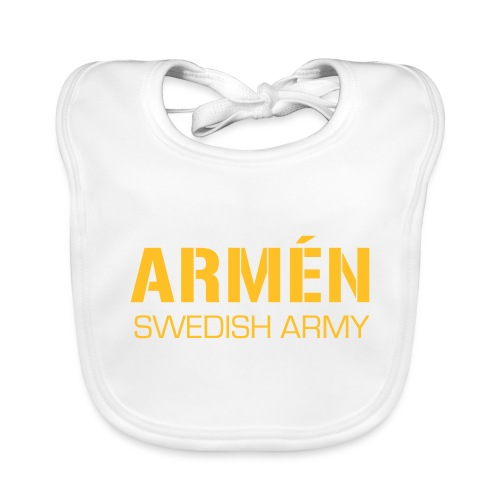 ARMÉN -Swedish Army - Ekologisk babyhaklapp