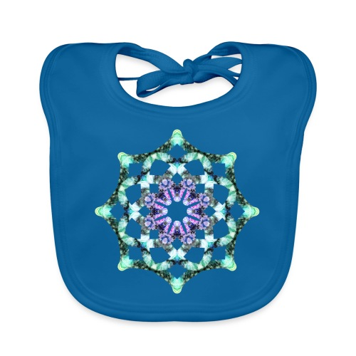 Yoga Mandala Symbol grün - Baby Bio-Lätzchen