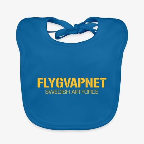 FLYGVAPNET - SWEDISH AIR FORCE - Ekologisk babyhaklapp