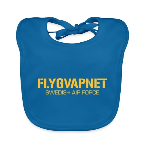 FLYGVAPNET - SWEDISH AIR FORCE - Ekologisk babyhaklapp
