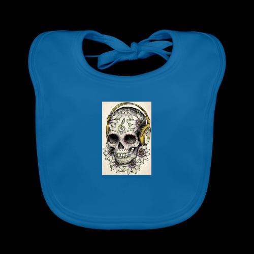 ab7a6a89ac2078fff2dd245fb15abaaf skull tattoo des - Bio-slabbetje voor baby's