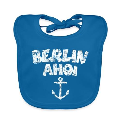 Berlin Ahoi Anker (Vintage/Weiß) - Baby Bio-Lätzchen