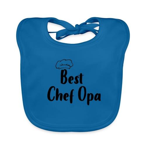 Alles voor Moeder en Kind Best Chef Opa - Bio-slabbetje voor baby's
