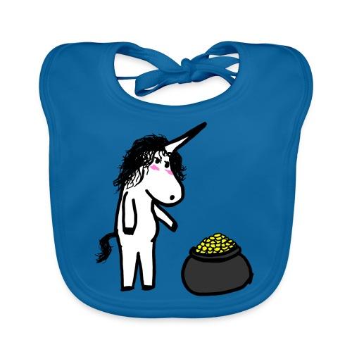 Oro unicorno - Bavaglino ecologico per neonato
