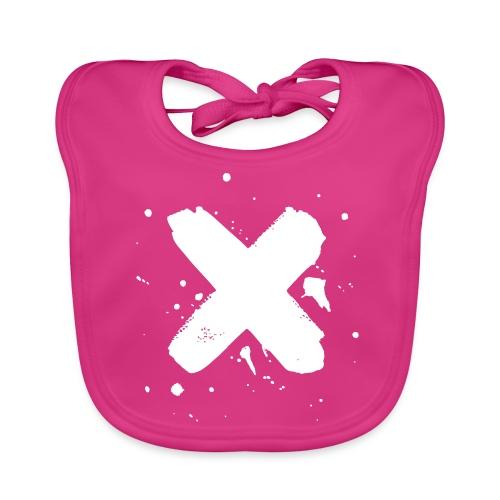 X valkoinen - Vauvan ruokalappu