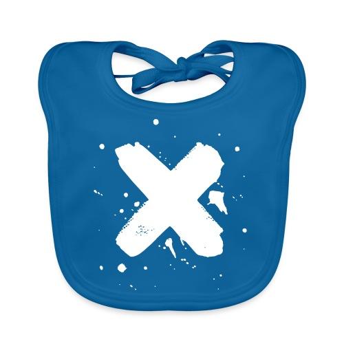 X valkoinen - Vauvan luomuruokalappu