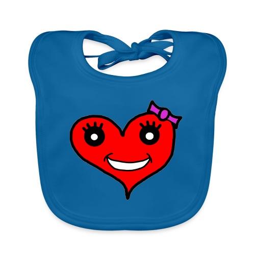 Herz Smiley Schlaufe - Baby Bio-Lätzchen