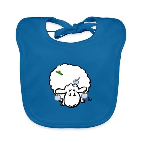 Ovejas del árbol de Navidad - Babero de algodón orgánico para bebés
