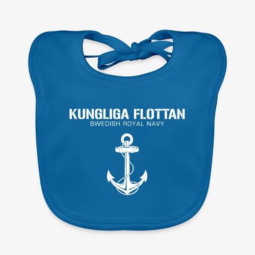 Kungliga Flottan - Swedish Royal Navy - ankare - Ekologisk babyhaklapp