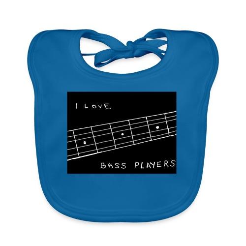I Love Bass Players - Baby Organic Bib