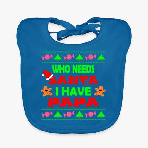 I have papa Ugly Christmas Sweater - Baby Bio-Lätzchen