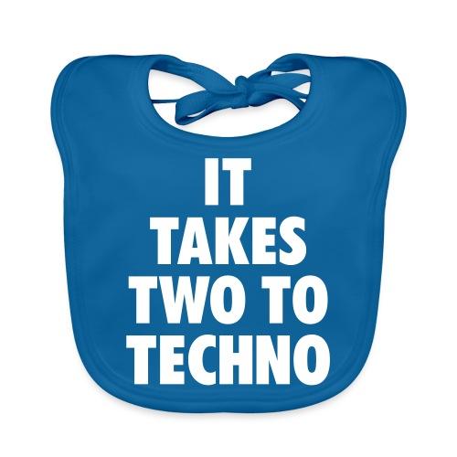 It takes two to techno - Baby Organic Bib