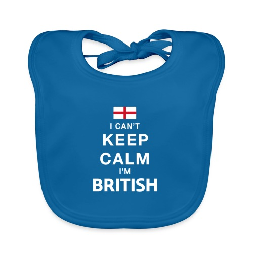 I CAN T KEEP CALM british - Baby Bio-Lätzchen