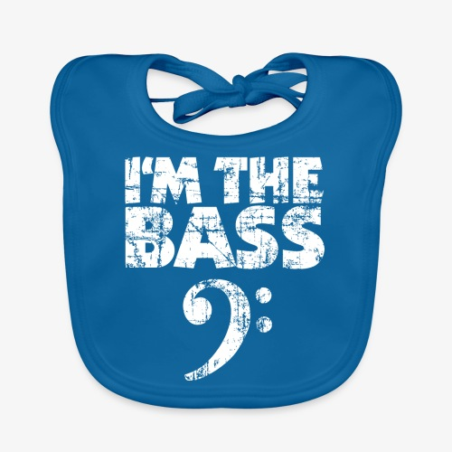 I'm the Bass Vintage White - Baby Bio-Lätzchen