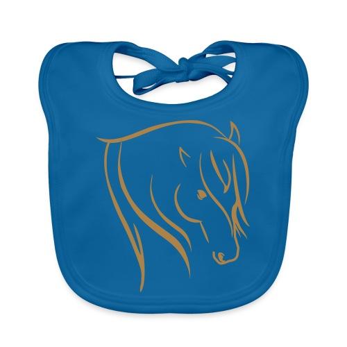 Pferdekopf Motiv Reitbekleidung - Baby Bio-Lätzchen