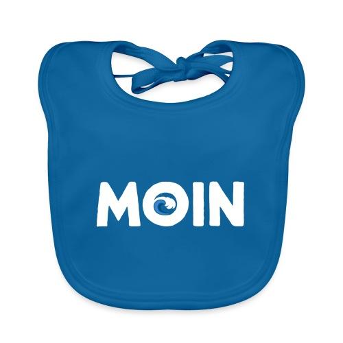 Moin Welle Ahoi Meer maritim Geschenk - Baby Bio-Lätzchen