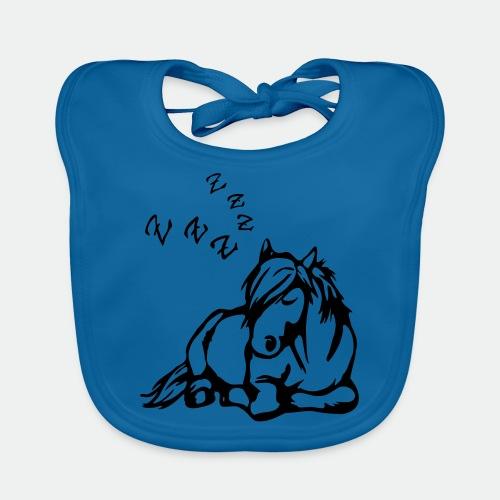 ZZZ Schlafendes Pferd - Baby Organic Bib