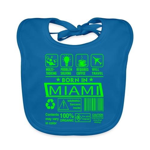 Born in Miami Florida - Bavoir bio Bébé