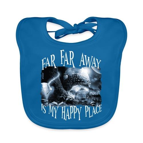 My Happy Place - Black & White - Bio-slabbetje voor baby's