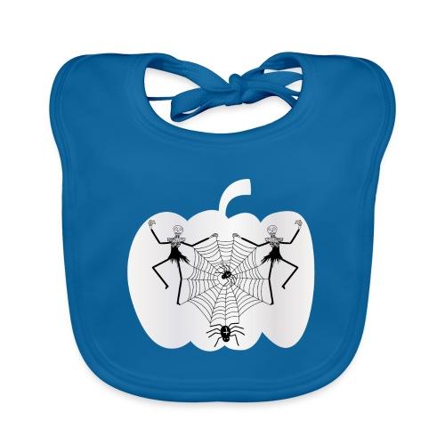 halloween spinnennetz und Skelette - Baby Bio-Lätzchen