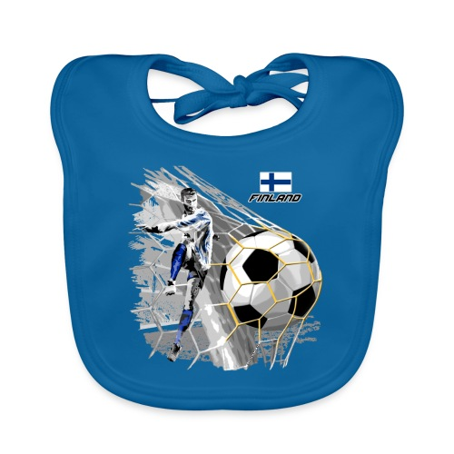 FINLAND FOOTBALL SOCCER PLAY T SHIRTS, GIFTS etc. - Vauvan luomuruokalappu