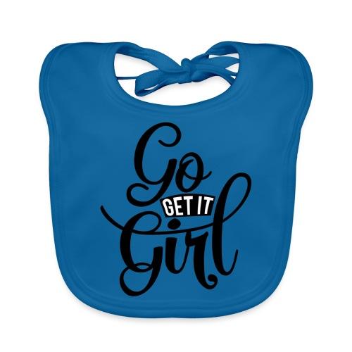 Go get it girl opdruk - Bio-slabbetje voor baby's