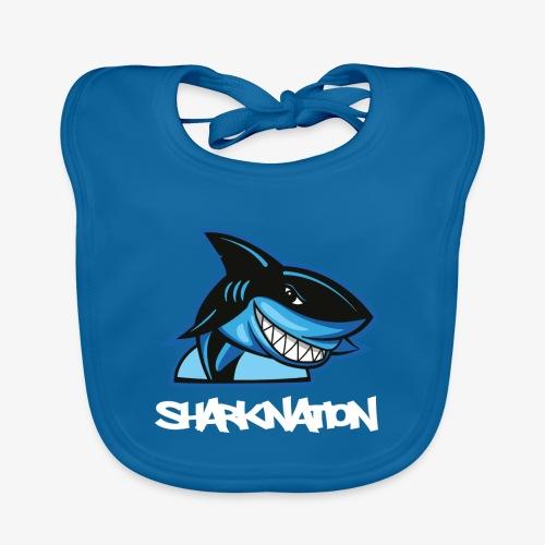 SHARKNATION / White Letters - Bio-slabbetje voor baby's