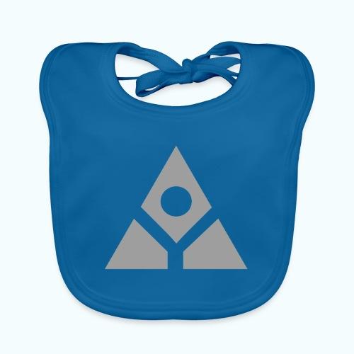 Sacred geometry gray pyramid circle in balance - Baby Organic Bib