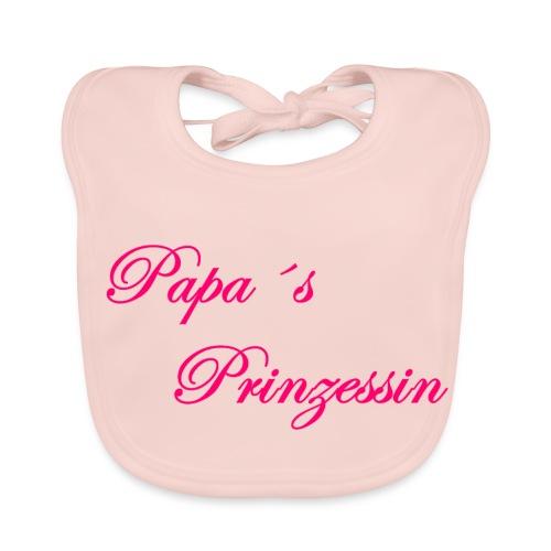 Papa s Prinzessin weiss pink - Baby Bio-Lätzchen