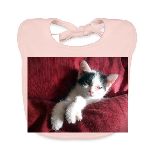 Katze in rot - Baby Bio-Lätzchen