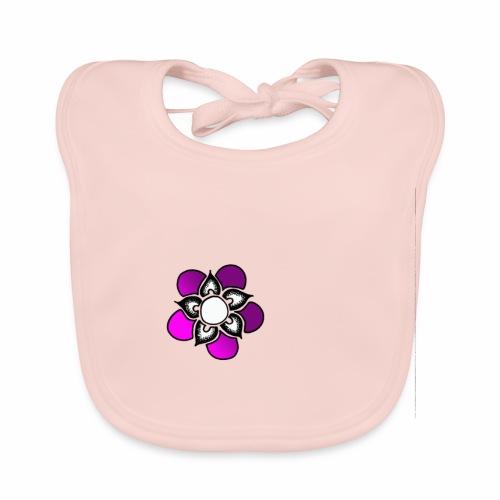 Flowerpower - Ekologisk babyhaklapp
