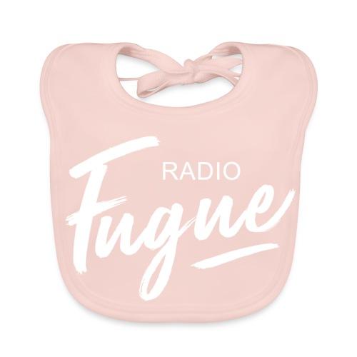 Radio Fugue Blanc - Bavoir bio Bébé