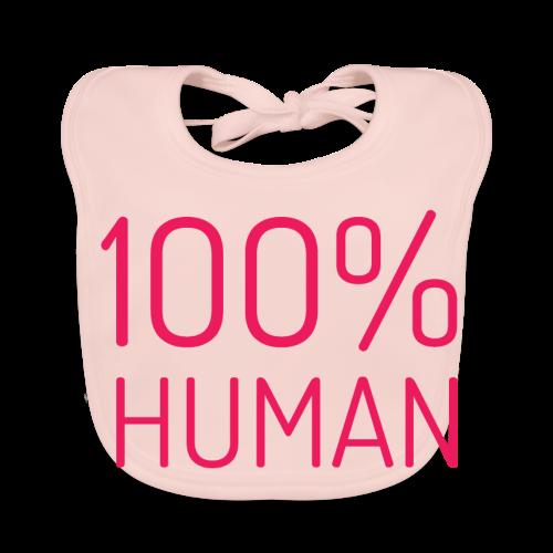 100% Human in roze - Bio-slabbetje voor baby's