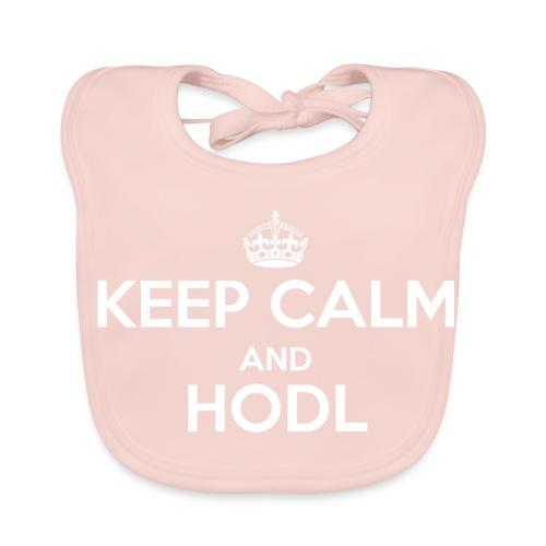 Keep Calm and HODL - Baby Bio-Lätzchen