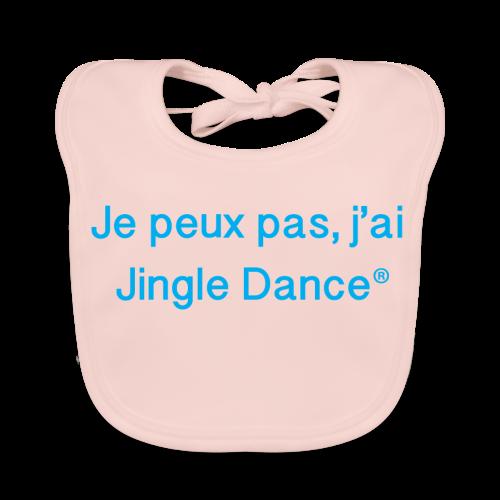 Je peux pas, j'ai Jingle Dance_débardeur bleu - Bavoir bio Bébé