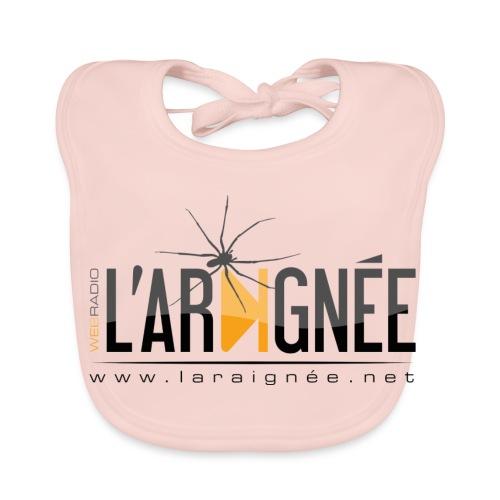 L'ARAIGNÉE, logo noir - Bavoir bio Bébé