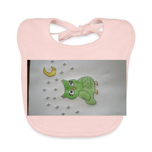 Grüne eule - Baby Bio-Lätzchen