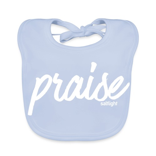 Praise (WHITE) - Baby Organic Bib