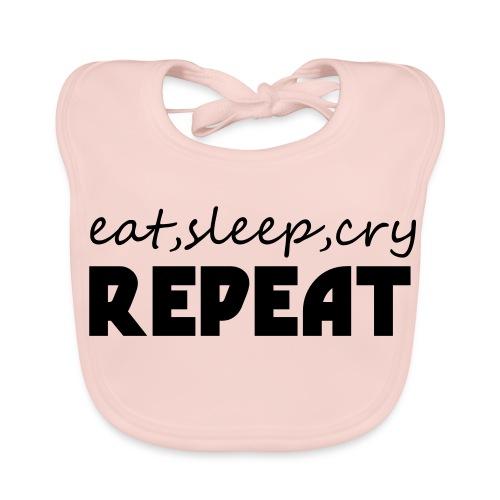 eat sleep cry repeat - Bio-slabbetje voor baby's