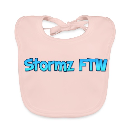 Stormz FTW blue and white fade - Baby Organic Bib