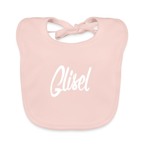 Glisel Logo weiß transparent - Baby Bio-Lätzchen