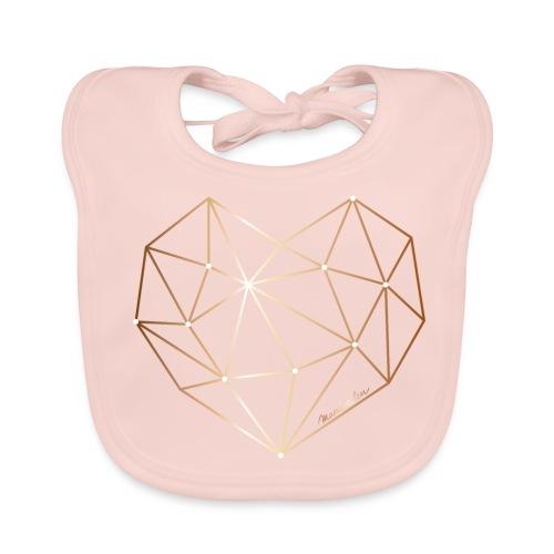 Herz in Diamant, Diamantherz - Baby Bio-Lätzchen