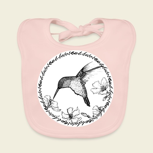 Kolibri Blüten Kreis - Baby Bio-Lätzchen
