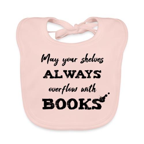 0040 Always full bookshelves | Bücherstapel - Baby Organic Bib