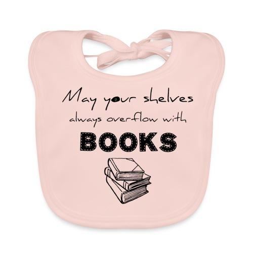 0033 Full Bookshelf | High stack of books | Read - Baby Organic Bib