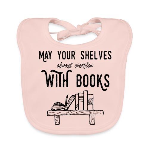 0036 bookshelf | Stack of books | Book | Read - Baby Organic Bib